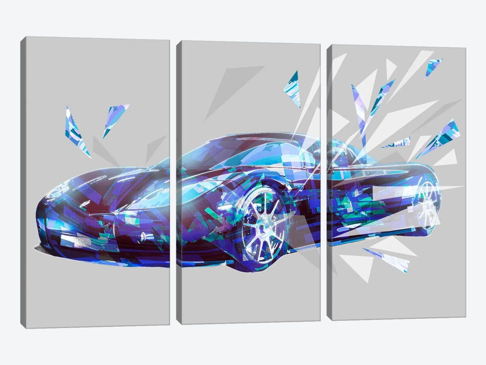 Breaking Barriers by 5by5collective 3-piece Canvas Print