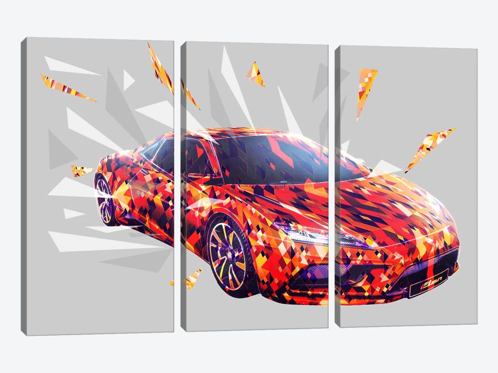 Light Speed 3-piece Canvas Artwork