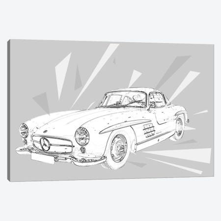 Vintage Gullwings 2 Canvas Print #ICA974} by 5by5collective Canvas Print