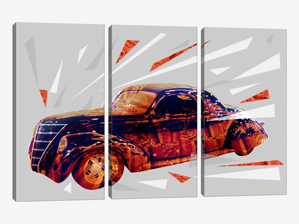 Midnight Cruiser by 5by5collective 3-piece Canvas Art