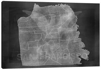 France Chalk Map Canvas Print #ICA97