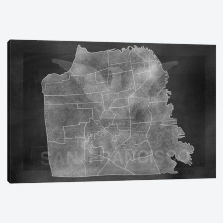 France Chalk Map 3-Piece Canvas #ICA97} by 5by5collective Canvas Art Print