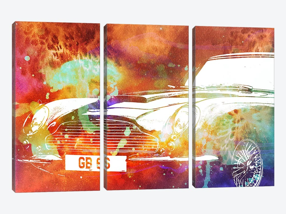 Solar Roadster by 5by5collective 3-piece Canvas Print