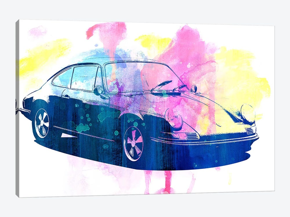 Watercolor Emergency by 5by5collective 1-piece Canvas Artwork