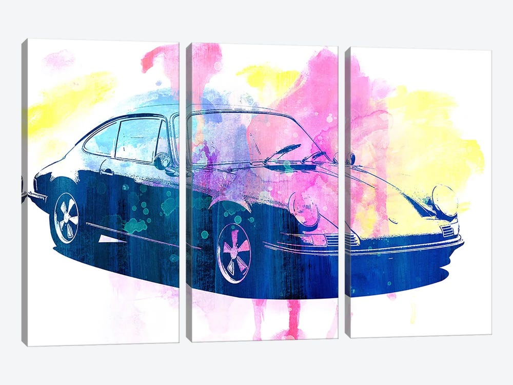 Watercolor Emergency by 5by5collective 3-piece Canvas Artwork