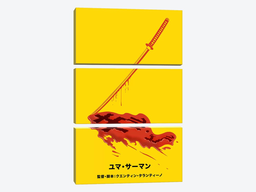 Revenge Japanese Minimalist Poster by 5by5collective 3-piece Canvas Art Print