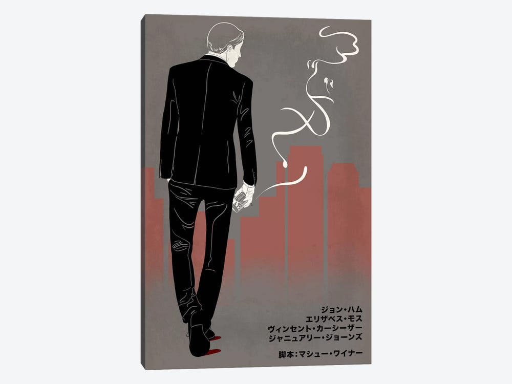 Ad Men Japanese Minimalist Poster by 5by5collective 1-piece Canvas Art