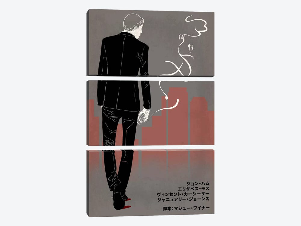 Ad Men Japanese Minimalist Poster by 5by5collective 3-piece Canvas Art