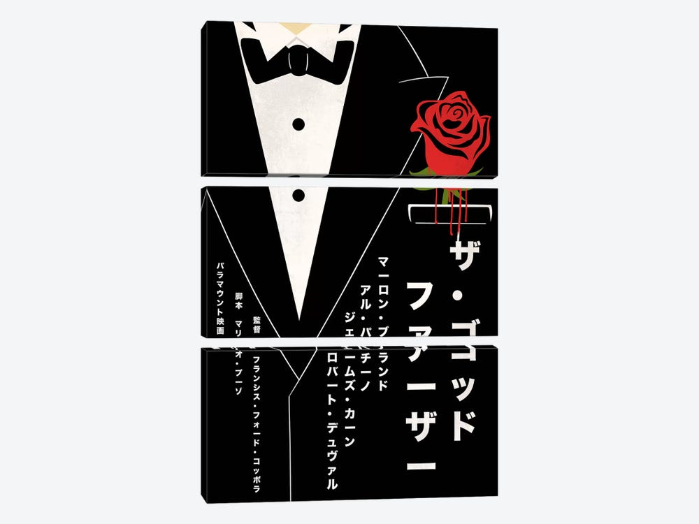 Mafia Boss Japanese Minimalist Poster by 5by5collective 3-piece Canvas Art
