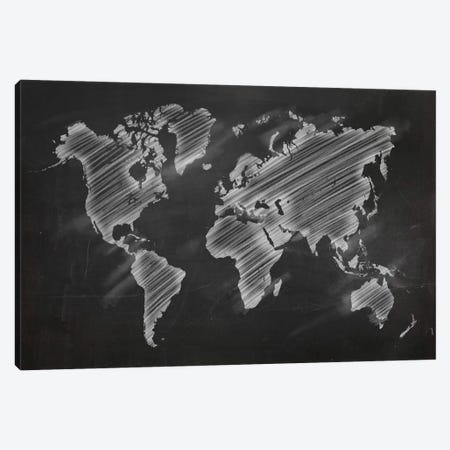 Chalky World Map Canvas Print #ICA99} by 5by5collective Canvas Art