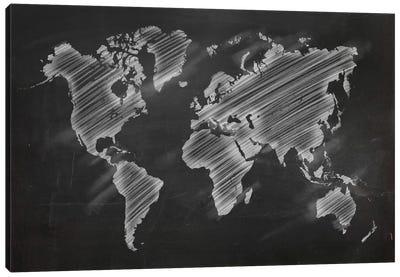 Chalky World Map Canvas Art Print