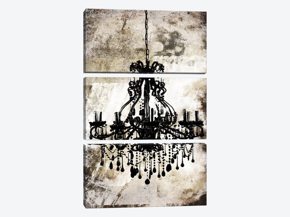 Black Chandelier by iCanvas 3-piece Canvas Art