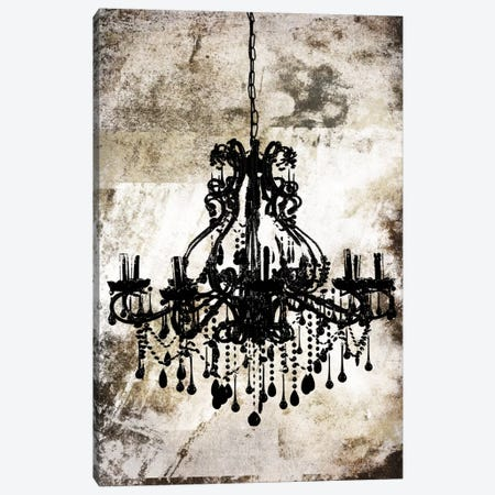 Black Chandelier 3-Piece Canvas #ICA9} by Unknown Artist Canvas Print