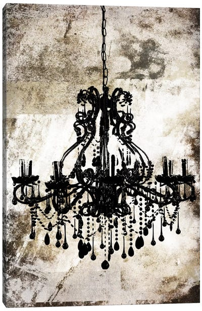 Black Chandelier Canvas Art Print