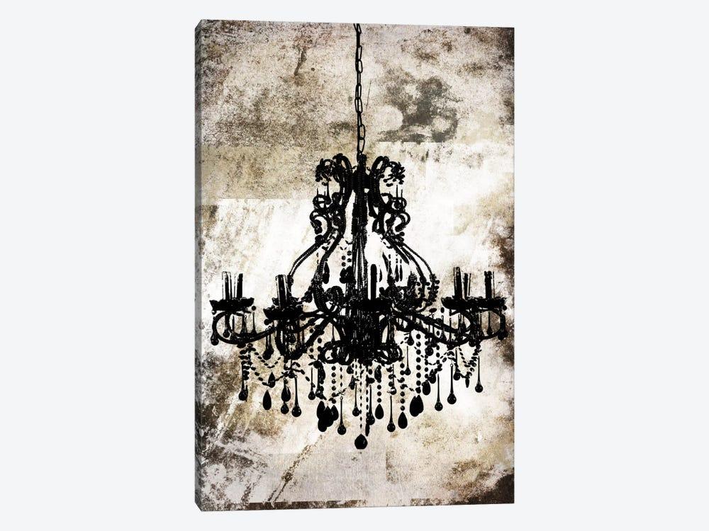 Black Chandelier by Unknown Artist 1-piece Canvas Art