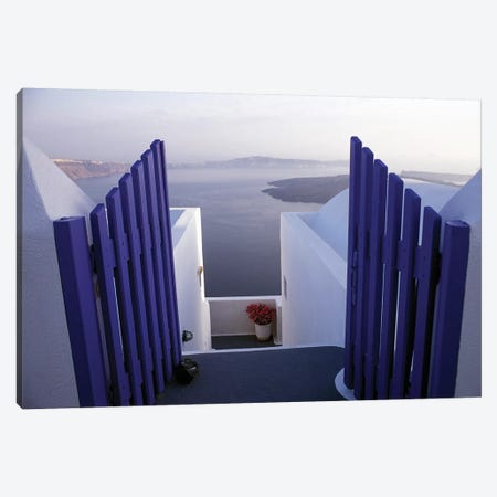 Balcony View, Imerovigli, Santorini, Cyclades, Greece Canvas Print #ICC1} by Connie Ricca Art Print