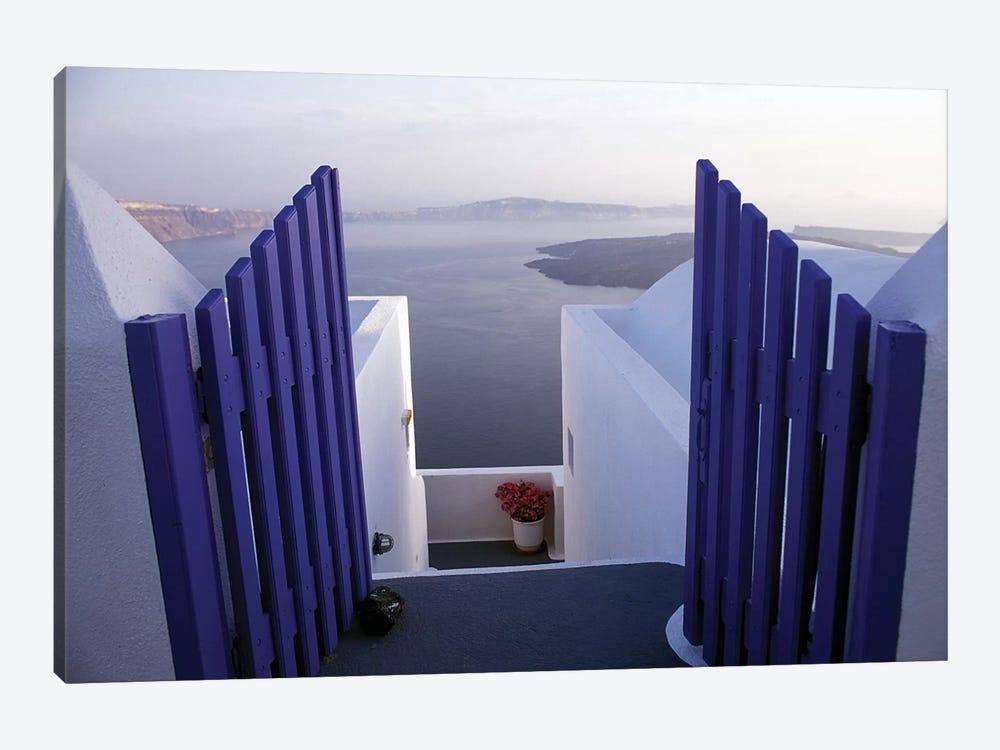 Balcony View, Imerovigli, Santorini, Cyclades, Greece by Connie Ricca 1-piece Canvas Art