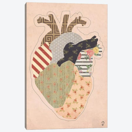 Cœur On Rose Canvas Print #ICR10} by imnotacrook Art Print