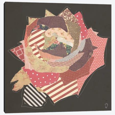 Fleur On Noir Canvas Print #ICR13} by imnotacrook Canvas Print