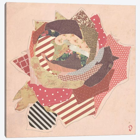 Fleur On Rose Canvas Print #ICR14} by imnotacrook Canvas Artwork