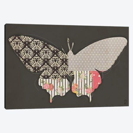 Papillon On Noir Canvas Print #ICR21} by imnotacrook Canvas Artwork