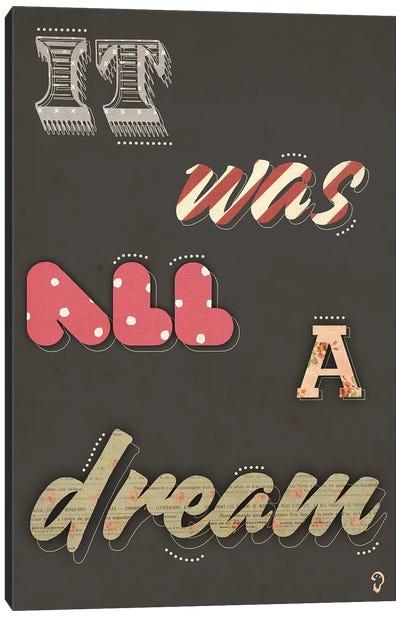 Rêver On Noir Canvas Art Print