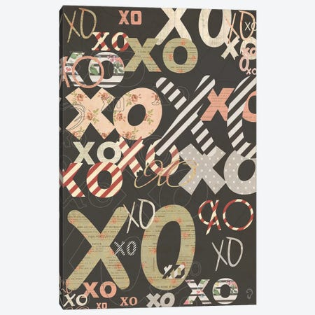 XO On Noir Canvas Print #ICR27} by imnotacrook Art Print