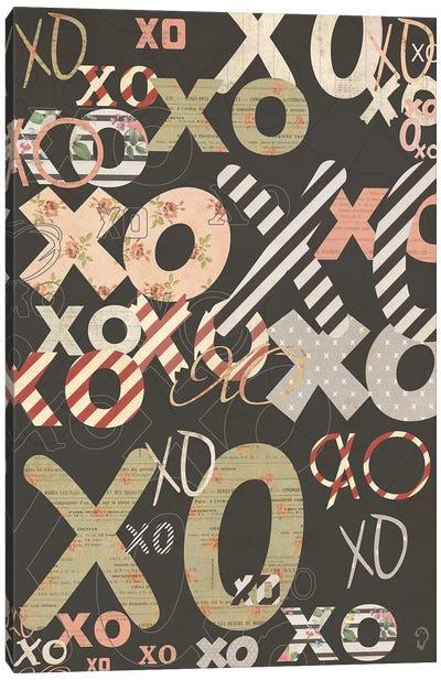 XO On Noir Canvas Art Print