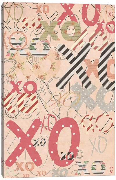 XO On Rose Canvas Art Print