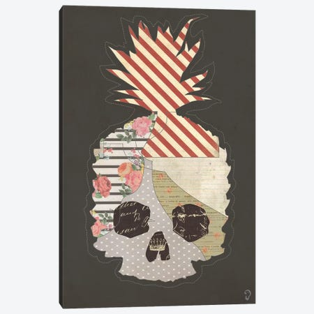 Ananas Mort On Noir Canvas Print #ICR3} by imnotacrook Art Print