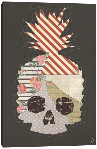 Ananas Mort On Noir Canvas Art Print