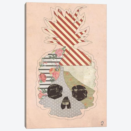 Ananas Mort On Rose Canvas Print #ICR4} by imnotacrook Canvas Artwork