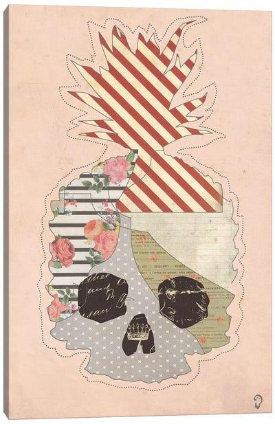 Ananas Mort On Rose Canvas Art Print
