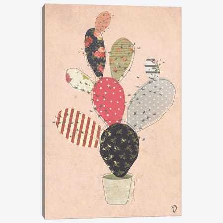 Cactus On Rose Canvas Print #ICR6} by imnotacrook Canvas Wall Art