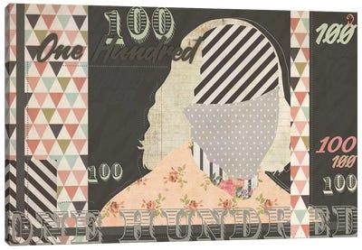 Cent On Noir Canvas Art Print