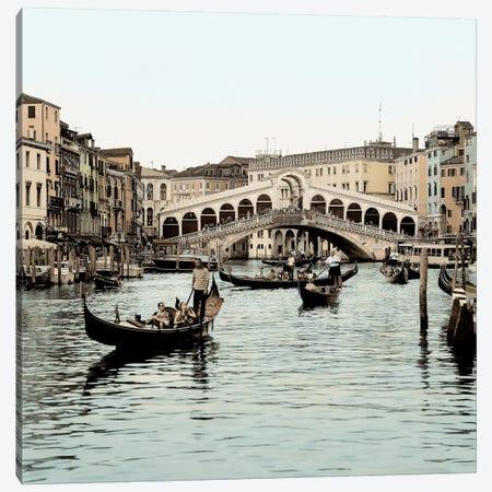 Ponte Rialto con Gondolas Canvas Print #ICS107} by Alan Blaustein Canvas Artwork