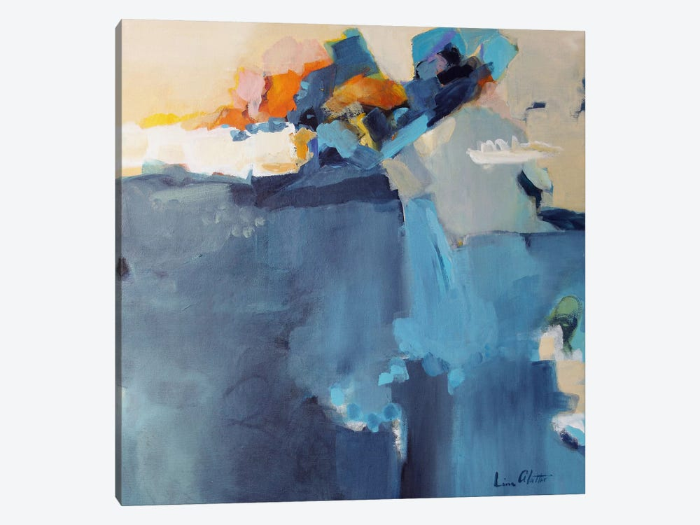 Dizzy at the Edge by Lina Alattar 1-piece Canvas Artwork