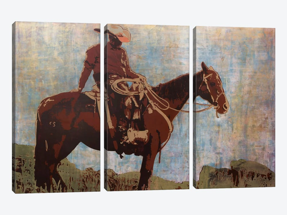 Western Moment by Maura Allen 3-piece Canvas Wall Art