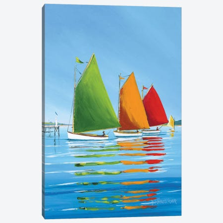 Cape Cod Sail Canvas Print #ICS153} by Sally Caldwell Fisher Canvas Artwork