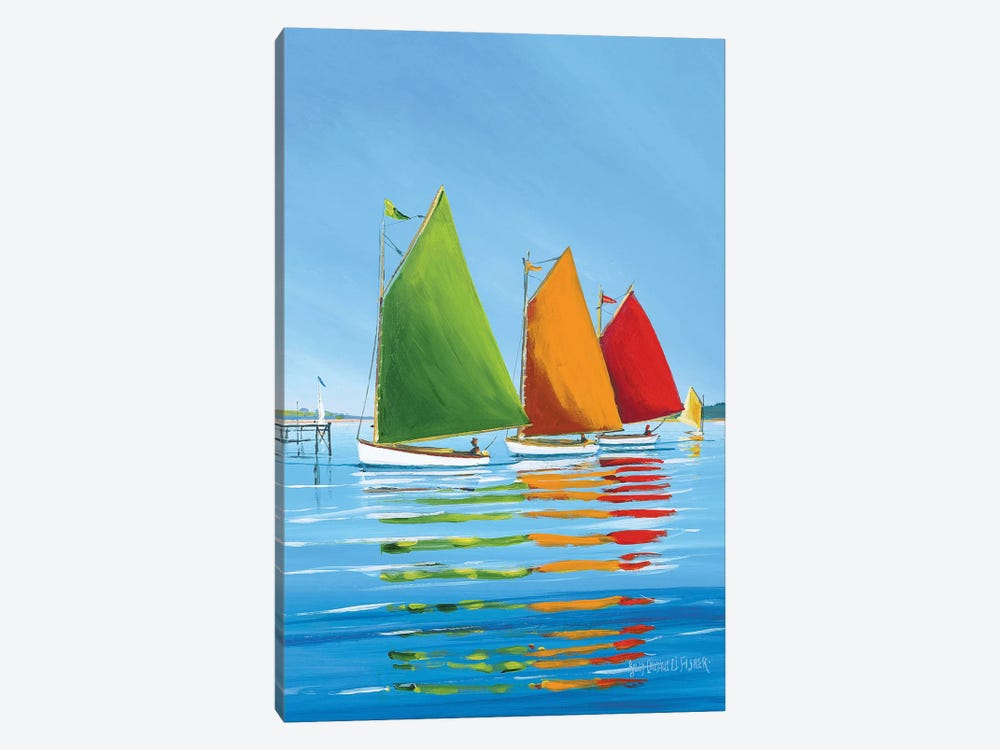 Cape Cod Sail by Sally Caldwell Fisher 1-piece Canvas Print