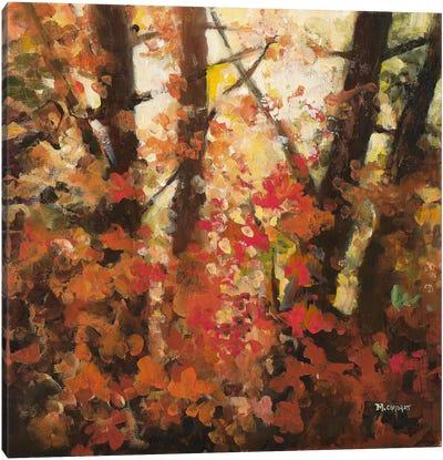 Backlit Leaves II Canvas Art Print