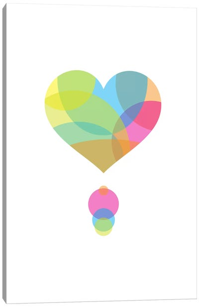Colors of a Heart Canvas Art Print
