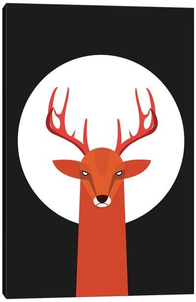 Deer & Moon Canvas Art Print