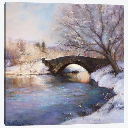 Central Park Bridge Canvas Print #ICS193} by Esther Engleman Canvas Art