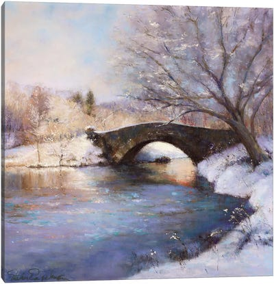 Central Park Bridge Canvas Art Print