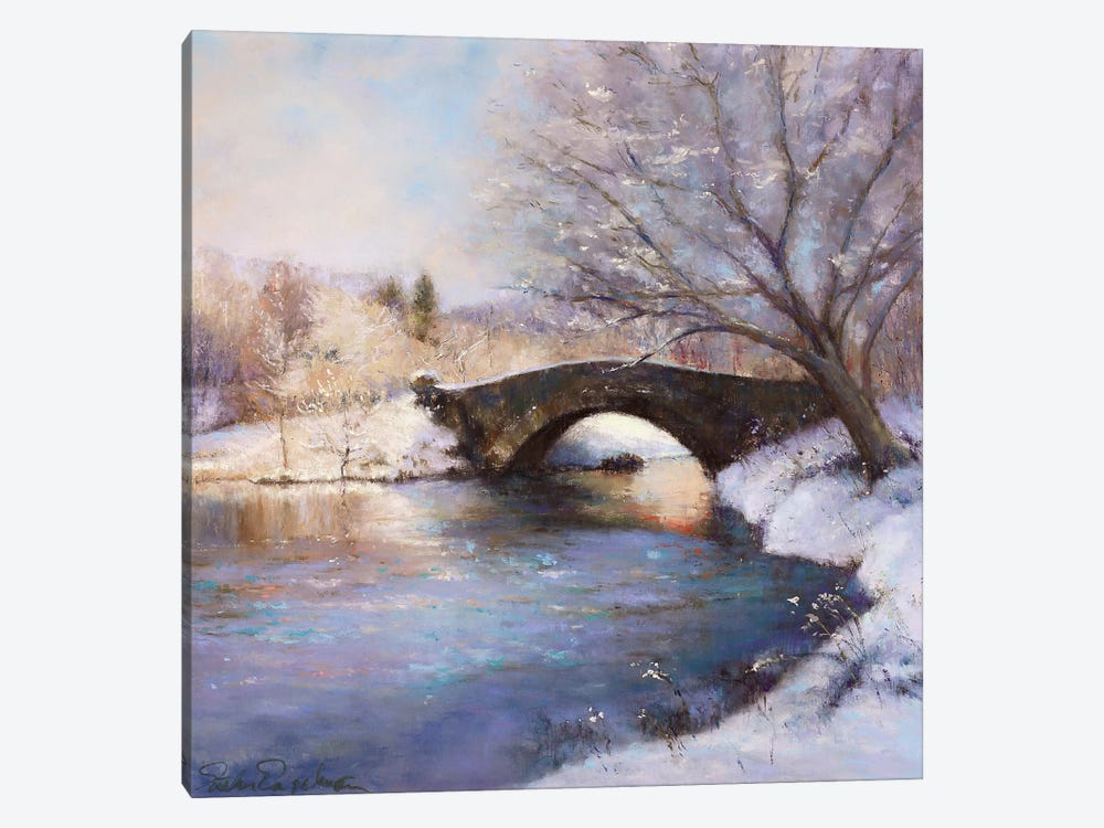 Central Park Bridge 1-piece Canvas Art Print