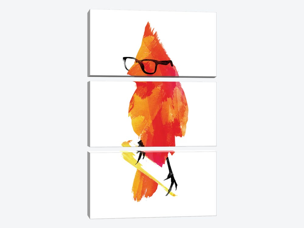 Punk Bird by Robert Farkas 3-piece Canvas Print