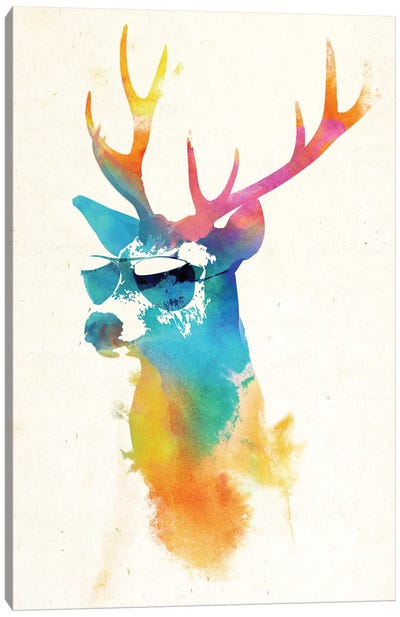 Sunny Stag Canvas Art Print