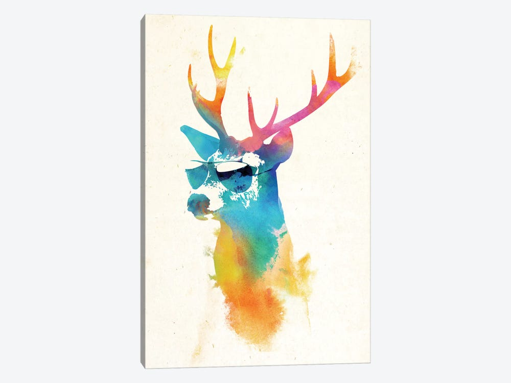 Sunny Stag by Robert Farkas 1-piece Canvas Print
