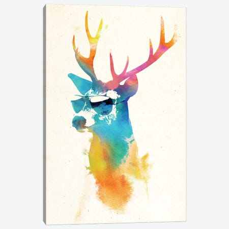 Sunny Stag Canvas Print #ICS200} by Robert Farkas Canvas Artwork